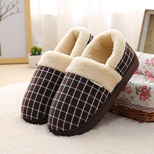 Fankou cotone personalizzato pantofole uomini femmina rientrano spesso soggiorno invernale il vostro soggiorno con l'elegante e alla moda e ,43-44, il pacchetto [a] la confezione di caffè