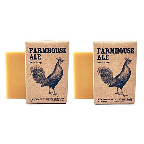 Chivas Goat Milk Skin Care Beer Soap 2-Pack, Farmhouse Ale (Honey Citrus)