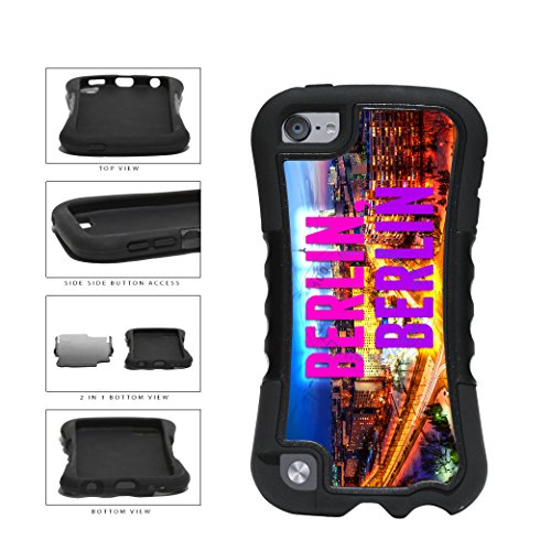 Berlin City Skyline 2-Piece Dual Layer Phone Case Back Cover For Apple iPod Touch 5th Generation comes with Security Tag and MyPhone Designs(TM) Cleaning Cloth - Dusk Berlin