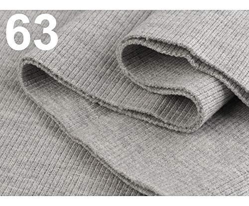 1pc 63 Light Gray Ribbing/Elastic Rib Knit Fabric 16x80 cm, Haberdashery ()