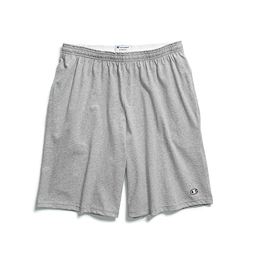 (Champion Men's Jersey Short With Pockets, Oxford Grey, XX-Large)