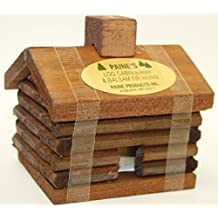 """Small LOG Cabin Incense Burner 2.5""""x3.5"""" Comes with 10 Balsam Fir Logs Paine's"""