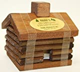Small LOG Cabin Incense Burner 2.5''x3.5'' Comes with 10 Balsam Fir Logs Paine's