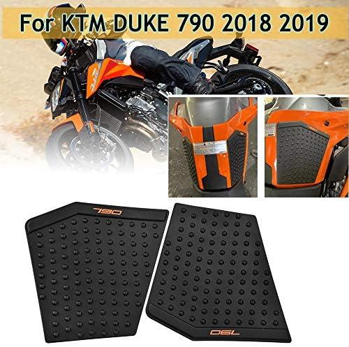 Lorababer Motorrad Für Duke790 18 19 Gummi Gas Tank Pad Traktion Seite Kraftstoff Gas Knie Grip Protector Decals Für Ktm 790 Duke 2018 2019 Auto