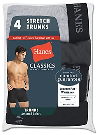 Classics Men's P4 Stretch Trunk Assorted Colors XL