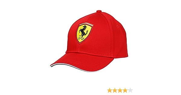 331d42d3642ed Scuderia Ferrari Gorra Niño Clásica Roja  Amazon.es  Deportes y aire libre