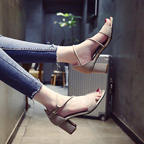 YMFIE Las señoras de Moda de Verano Toe Toe Sandalias para Boda Fiesta Talones a