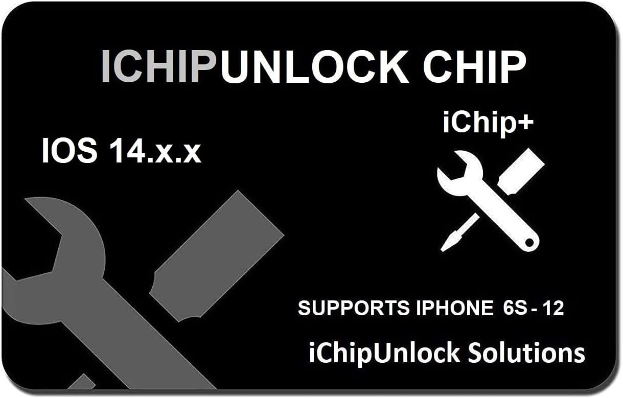 ICHIPUNLOCKICHIP+ Compatible with iPhone 6S to 12, Unlock AT&T, Verizon, Sprint, T-Mobile, Xfinity, Metro PCS, Boost, Cricket to Any GSM Networks.