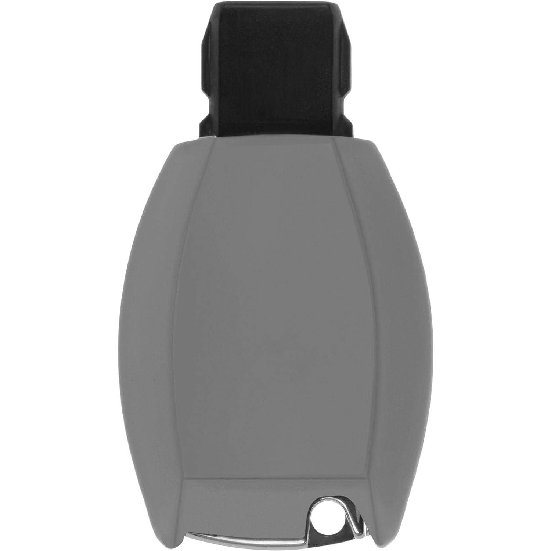 PhoneNatic Funda de Silicona para Mando de 3 Botones de Mercedes-Benz S Klasse en Naranja Llave Plegable de 3-Key