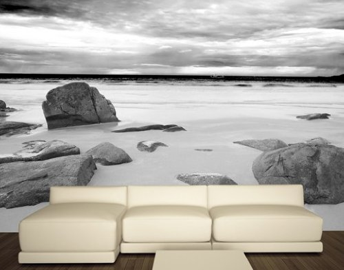 Papiertapete - Fototapete No.80 'ROCKY BEACH' 400x280cm Strand Meer Ozean , Größe:280cm x 400cm