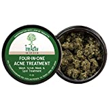 TreeActiv Four-in-One Acne Treatment | Wash, Scrub, Mask, and Spot Treatment | Exfoliating Sugar | Face or Body | Natural Sulfur Clear Skin | Bentonite | Honey Powder | Grapefruit Cleanser (4 Ounce)