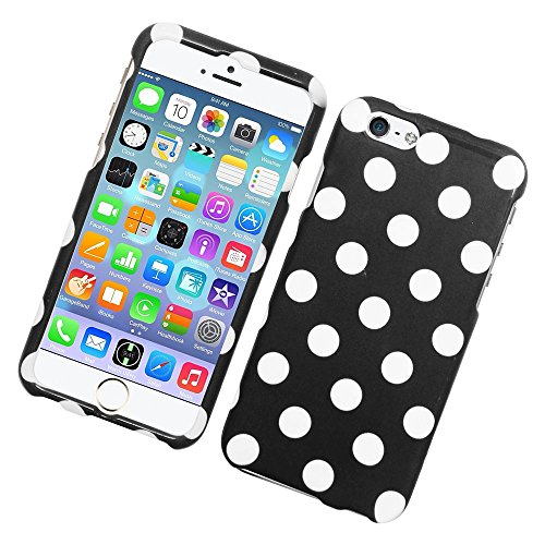 iPhone 6/6s Case, Insten Polka Dots Rubberized Hard Snap-in Case Cover For Apple iPhone 6/6s, ()