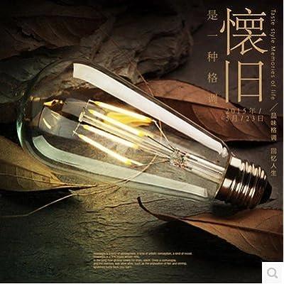 2× 3Pcs Vintage Edison Licht bulbled Retro Ampoules Créatif Lustre Ampoule E27vis ST 64, 8, ST Couleurs de 64LED Ampoules à économie d'énergie, blanc
