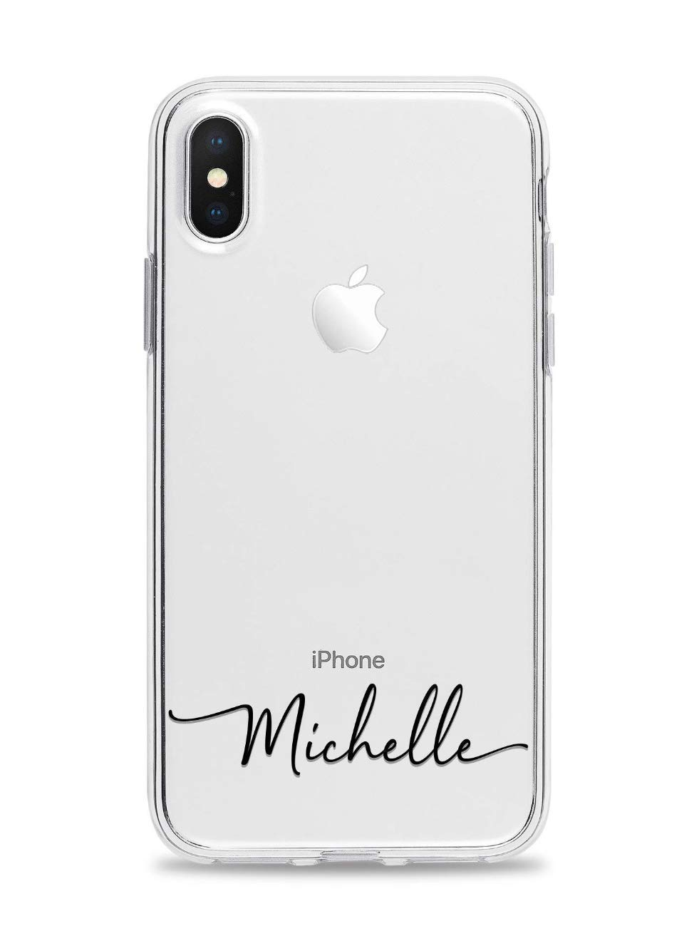 Custom Handwritten Name Clear iPhone Case for iPhone X, XS, XS Max, and XR Personalized iPhone Case