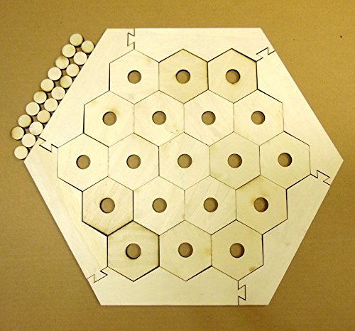 Board Game Frame with 19 Hexagons w/ 3/4 circles