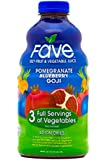 FAVE All-Natural Juice, Pomegranate Blueberry Goji, 46 Ounce (Pack of 8)