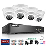 ANNKE 4CH H.264+ 1080P Lite DVR 4*720P Security Camera System, Motion Detection Email Alert with Images, Smart Search Play (No Hard Disk)