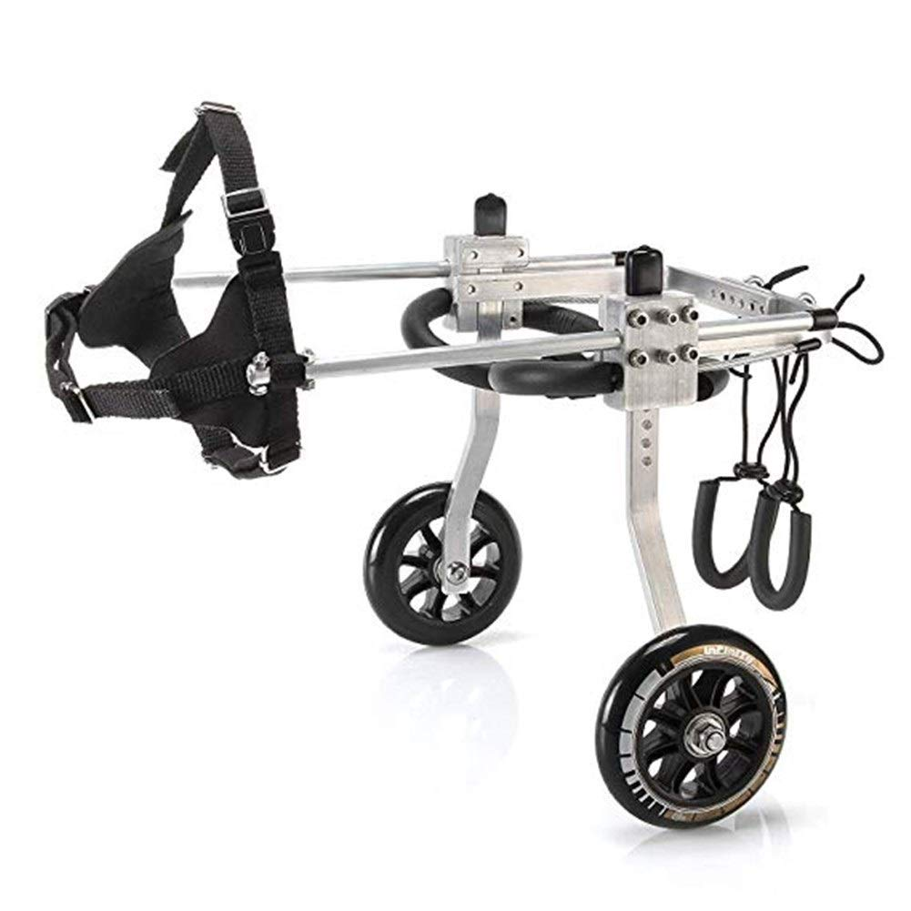 LMCWLY Dog Wheelchair, Pet Wheelchair Aluminum Alloy Dog   Scooter, Disabled Dog Assisted Hind Leg Rehabilitation Training Car, Dog Walking Scooter, Does Not Affect The Dog Any Inconvenience by LMCWLY