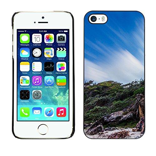 Premio Sottile Slim Cassa Custodia Case Cover Shell // F00030137 Rocky shore // Apple iPhone 5 5S 5G