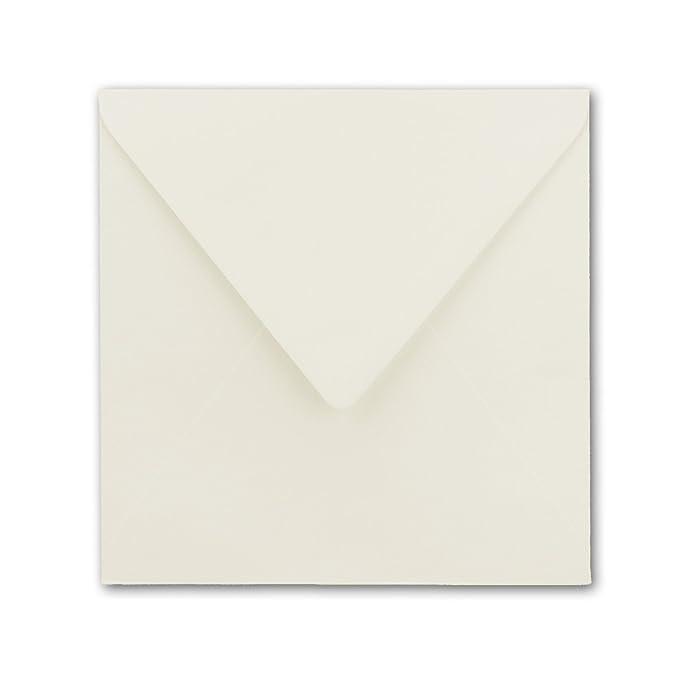 25 quadratische Briefumschläge 160x160 mm Flieder mit Dreieckslasche