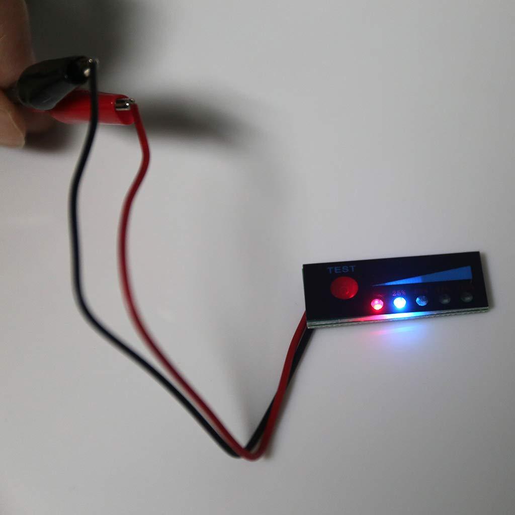 3,7 V 2S-4S 12v 18650 Lithium 12 V Blei-S/äure-Batterie Power Tester Kapazit/ät Indikator