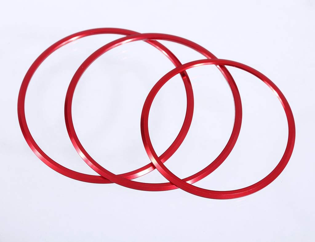 Garniture Rouge pour Classe A CLA GLA 200 220 260 W176 W117 W246 C117 A180 Bouton de r/églage de la Bague de r/églage du si/ège en Alliage daluminium