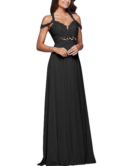 Naxy Womens Applique Beaded Diamond Halter Cold Shoulder Prom Dress
