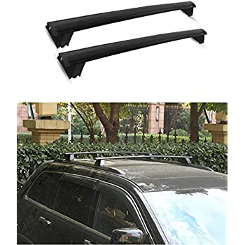 ECCPP Roof Rack Side Rails Luggage Cargo Carrier Roof Side Rails Fit for 2013 2014 2015 2016 Ford Escape Sport Utility,Silver Aluminum Cross Rails