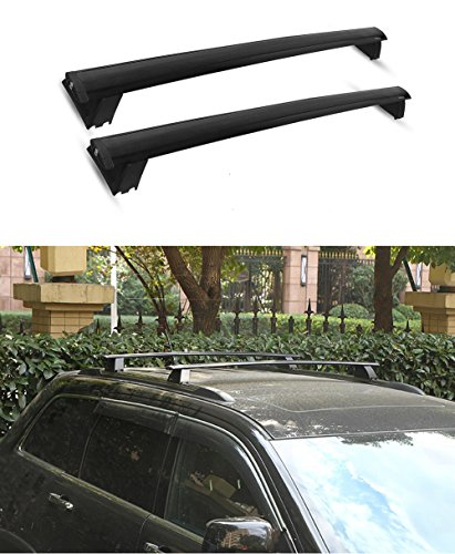 CSI Jeep Grand Cherokee Roof Rack Cross Bars Luggage Locks 2011 2012 2013 2014 2015 2016 2017 Black (Fit For Limited and Overand Only)