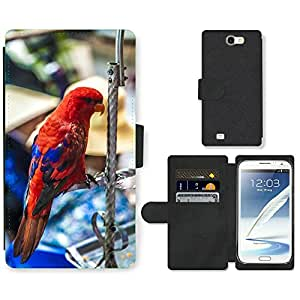 PU LEATHER case coque housse smartphone Flip bag Cover protection // M00129674 Loro Pájaro Viet Nam Viajes // Samsung Galaxy Note 2 II N7100