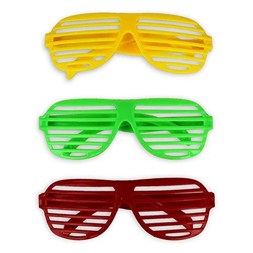 12 x HC-Handel 910588 Partybrille Atzenbrille 14 cm verschiedene Farben