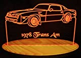 1978 Trans Am Acrylic Lighted Edge Lit 13'' LED Sign / Light Up Plaque 78 VVD9 Original Made in USA