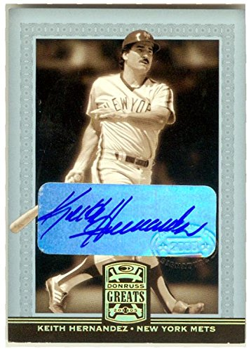 Keith Hernandez autographed baseball card (New York Mets) 2005 Donruss Greats #48 Certified Authentic