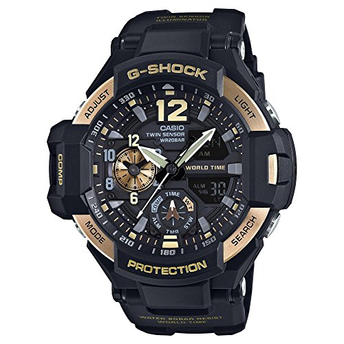 Casio G Shock Black Quartz GA1100 9G