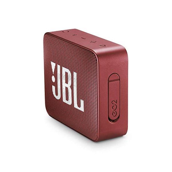 JBL Go 2 - Mini enceinte Bluetooth Portable - Étanche pour Piscine & Plage Ipx7 - Autonomie 5hrs - Qualité Audio JBL - Rouge 3
