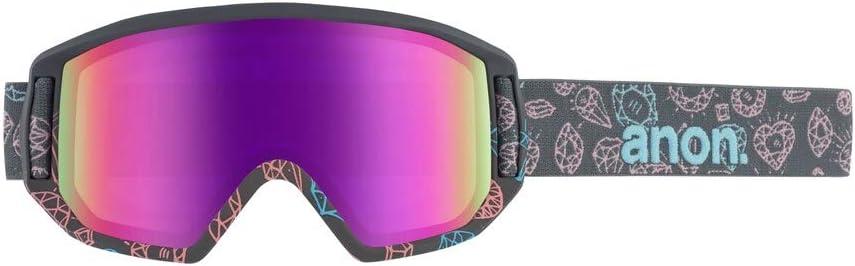 Bling//Pink Amber Anon Relapse Jr Mfi Masque de Snowboard Fille