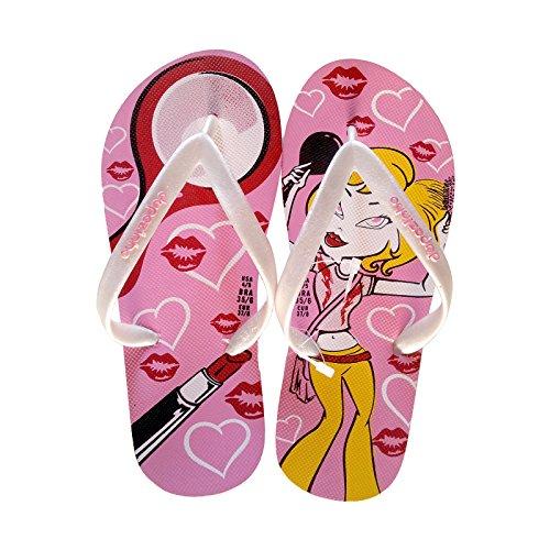 dupè Ciabatta Chanclas niña estilo Pop, rosa, 35-36 rosa