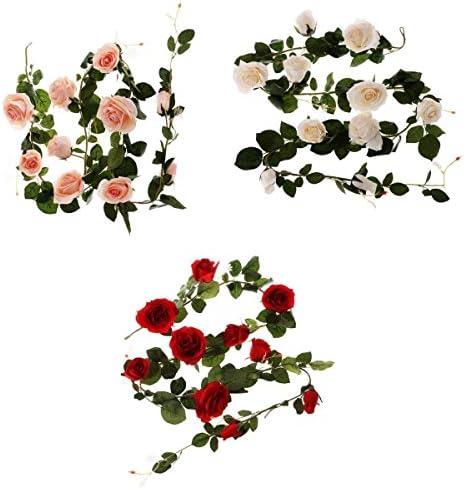 結婚式の家の装飾のフラワーアレンジメント造花180cmピンクホワイトレッド