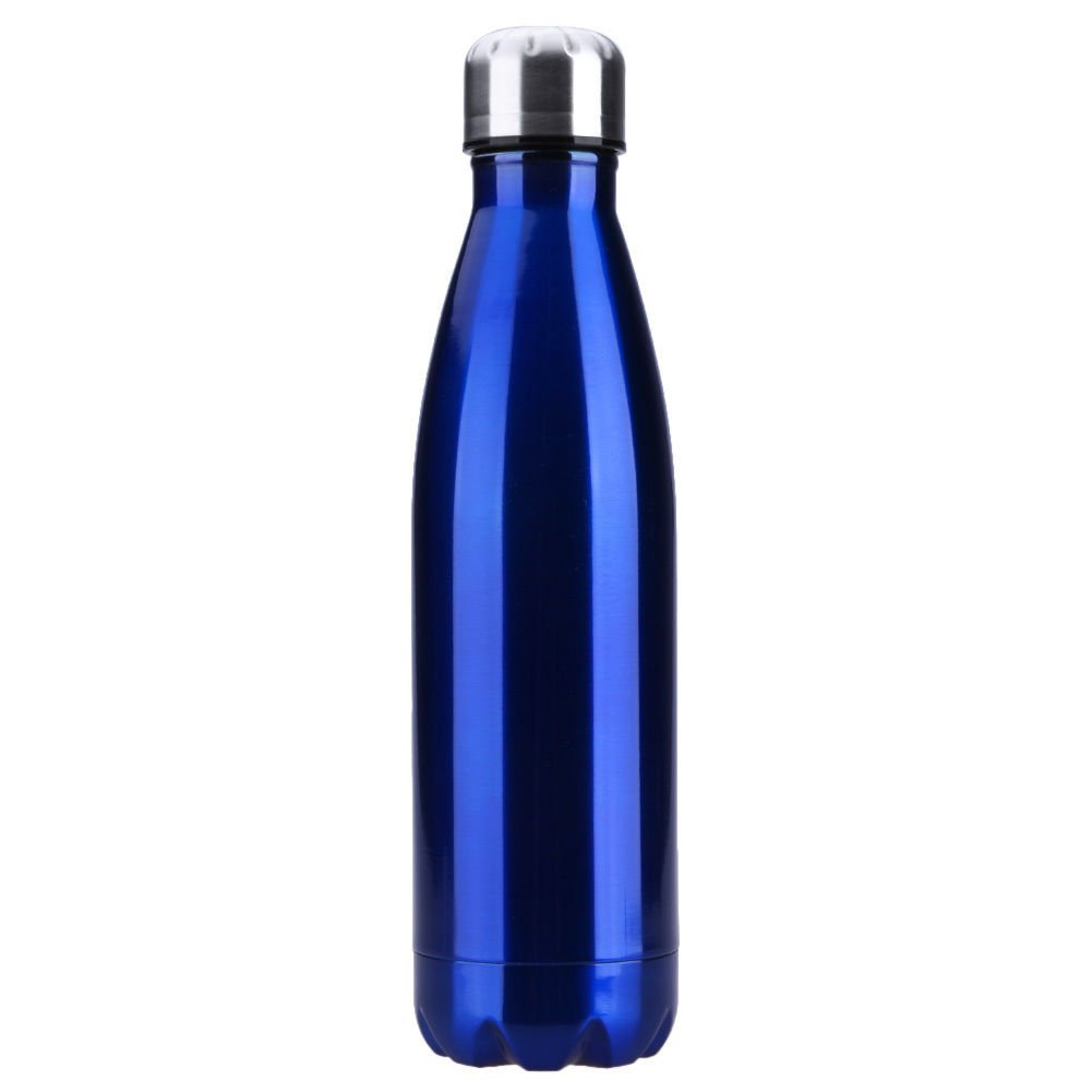 Blue Double Wall Stainless Steel Water Bottle -Home Office Travel Gift by Travel Mugs