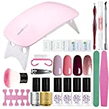 SEXY MIX Gel Nail Polish Kit with UV LED Light, Home Gel Nail - Best Reviews Guide