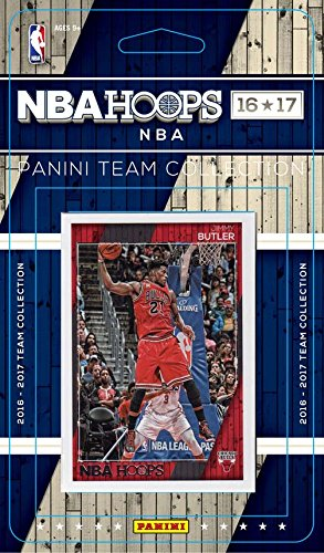 Set Team Basketball Card (Chicago Bulls 2016 2017 Hoops Basketball NBA Licensed Factory Sealed 11 Card Team Set with Dwyane Wade Plus)
