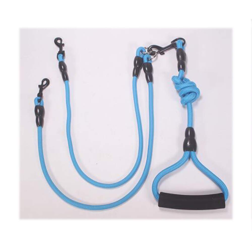 bluee Large bluee Large GOYOO Training leads to dogs Detachable One for two pet leash Bull chain Strong separator Traction line length adjustable Comfortable handle,bluee,L