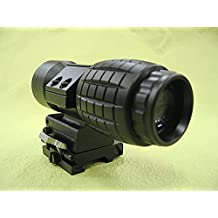 Tactical 3X Magnifier Rifle Scope with Flip To Side Mount Gun Optical Sight Riflescope For Outdoor Hunting Shooting