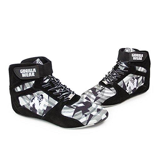 Gorille Porter Des Hauts Perry Haute Pro - Camo Noir / Gris / Camo Noir / Gris - Chaussures De Musculation Et De Fitness Pour Les Femmes Et Les Hommes