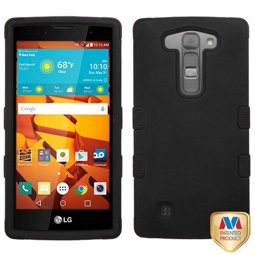 MyBat Hybrid Protector Case for LG LS751 (Volt 2) - Retail Packaging - Black
