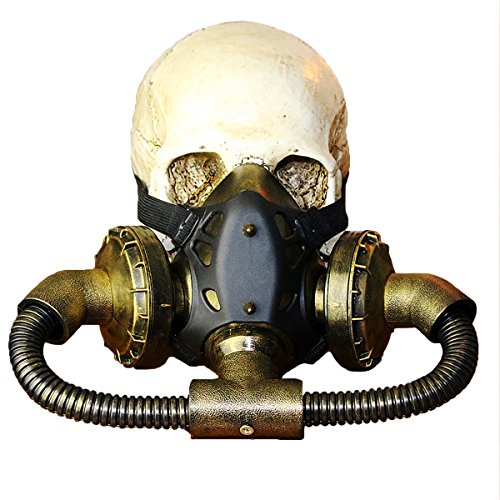 Retro Steampunk Respirator Mask Plague Doctor Resin 3D Gas Mask for Halloween Carnival Party Costume (Memes A Favor De Halloween)