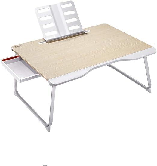 GLJ Mesa Plegable portátil de Escritorio Colegio Dormitorio Mesa ...
