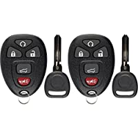 KeylessOption Keyless Entry Remote Control Car Key Fob Replacement for 15913415 with Key (Pack of 2)