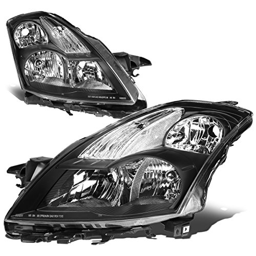 Nissan Headlight Housing (Nissan Altima L32A D32 4th Gen 4-Door Sedan Pair of Black Housing Clear Corner Headlight Lamp)