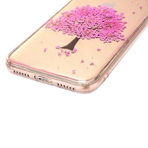 iPhone x Cristal Claro Funda, SXUUXB iPhone 10 Naturaleza Hecho a mano Colorido Real Secado Flor y Hoja Serie Patrón Híbrido Bumper Jelly Caja, TPU Caucho Gel UltraFina Skin Resistente a arañazos Prot Flor 14